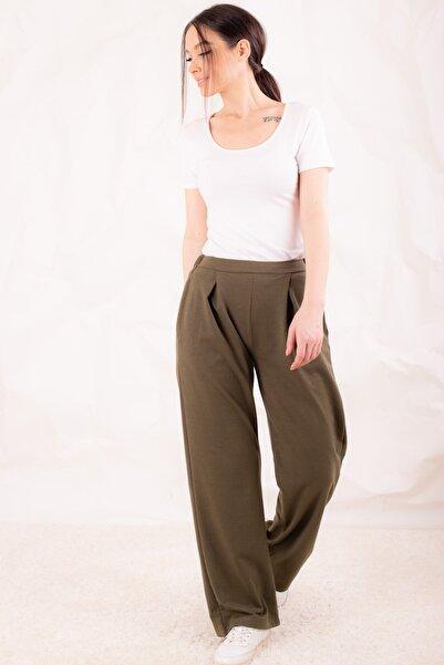 armonika Kadın Haki Bol Pantolon ARM-20Y001037