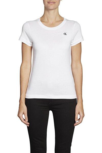 Calvin Klein Kadın Beyaz Slim Fit  T-shirt