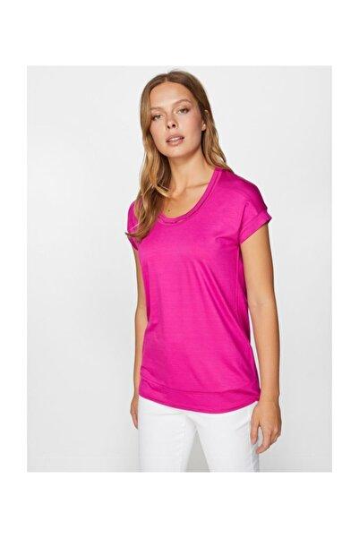Faik Sönmez Kadın Yuvarlak Yaka T-shirt 60018