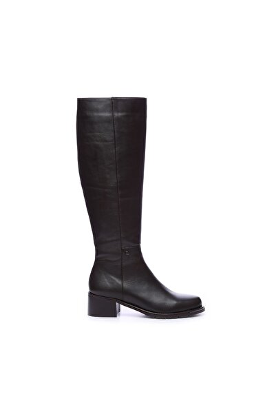 KEMAL TANCA Hakiki Deri Kahverengi Kadın Casual Çizme 51 8307 C BN CIZME