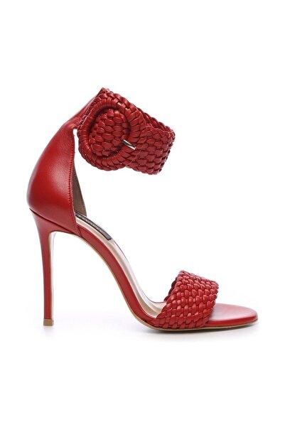 KEMAL TANCA Hakiki Deri Kırmızı Kadın Klasik Topuklu Ayakkabı 299 10595 02 BN AYK Y19