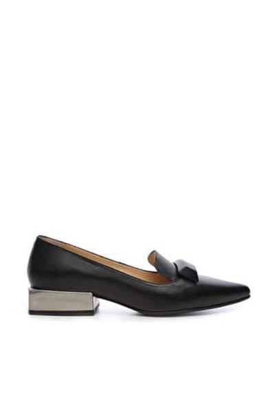 Hakiki Deri Siyah Kadın Babet Ayakkabı 94 2000 BN AYK SK19-20
