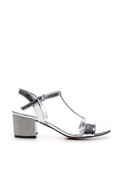 KEMAL TANCA Gri Kadın Vegan Klasik Topuklu Ayakkabı 592 19769 BN AYK Y19