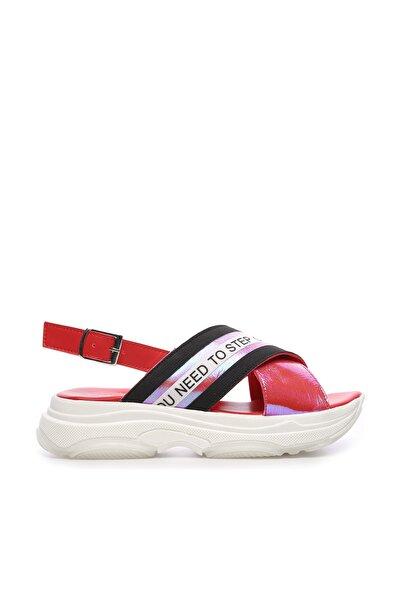 KEMAL TANCA Kırmızı Kadın Vegan Sandalet 212 MDL 2 BN SNDLT Y19
