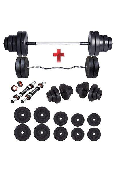 SPOR 68 Kg Z Bar Dambıl Seti & Halter Seti Ağırlık Fitness Seti