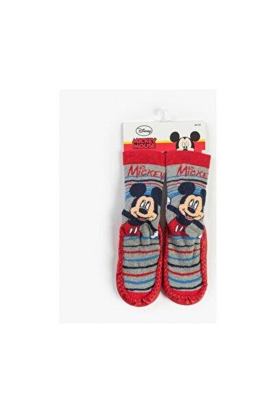 Mickey Mouse Disney Bebek Patikli Çorap Kırmızı 13185