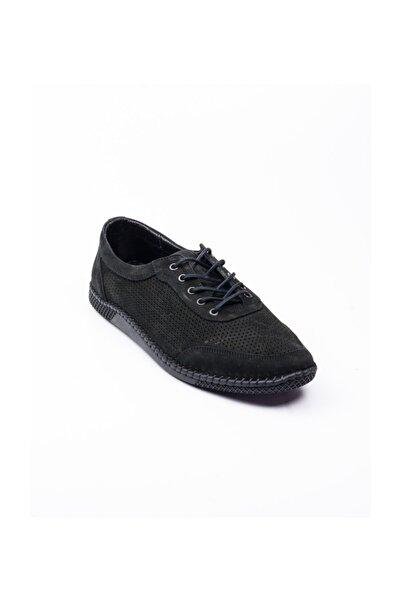 Nobel 980 Nubuk Deri Günlük Erkek Ayakkabı Siyah Siyah-40