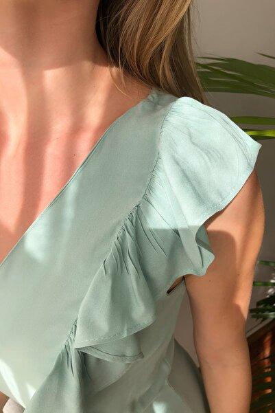 Mint Volanlı Elbise TWOSS20EL2367