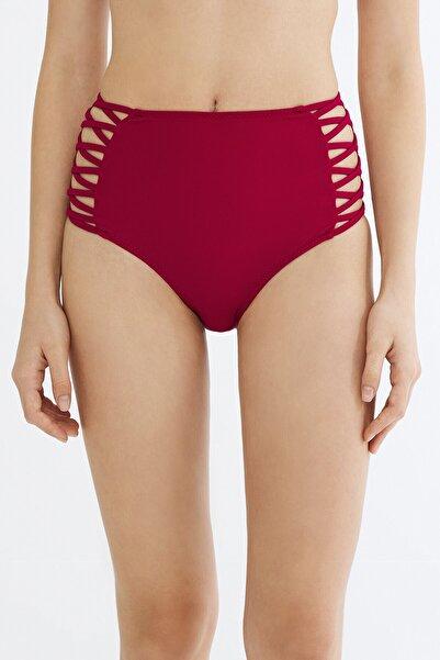 Penti Bordo Basic Yüksek Bel Fashion Bikini Altı