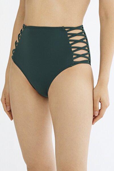 Penti Koyu Yeşil Basic Yüksek Bel Fashion Bikini Altı