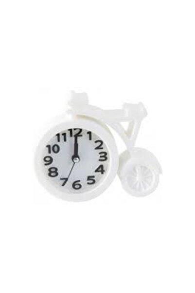 Lino Alarmlı Beyaz Masaüstü Saat