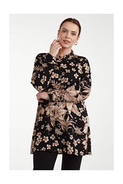 Sementa Kadın Desenli Gömlek - Siyah