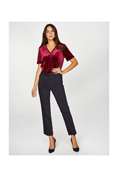 Faik Sönmez Kadın Lacivert Slim Fit Klasik Pantolon 39057 U39057