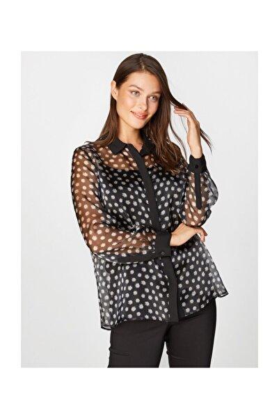 Faik Sönmez Kadın Siyah Gömlek 39370 U39370