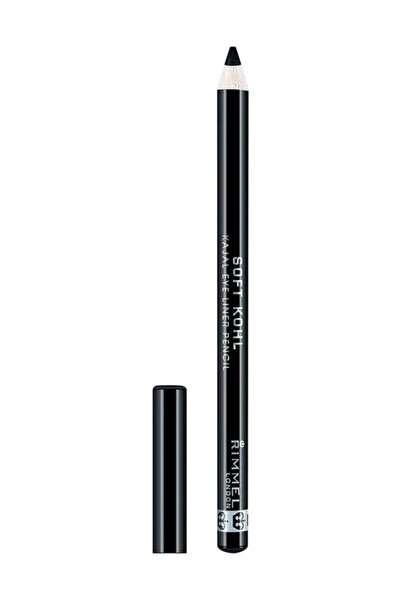 RIMMEL LONDON Siyah Göz Kalemi - Soft Kohl Kajal Eye Liner Pencil 061 Jet Black  5012874025862