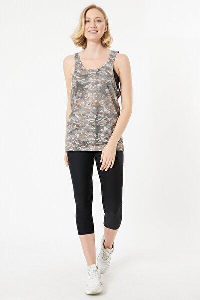 Trendintop Kamuflaj Desenli Kadın T-shirt