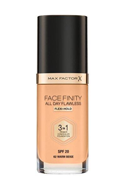 Max Factor Fondöten - FaceFinity All Day Flawless Foundation 62 Warm Beige 3614227923409
