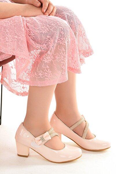 Kiko Kids Kiko 750 Rugan Günlük Kız Çocuk 4 cm Topuk Babet Ayakkabı