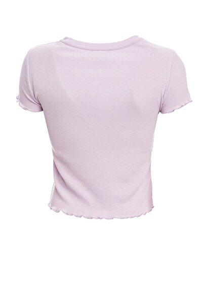 Kadın Mor Çizgi Detaylı Powerpuff Girls Lisanslı Kısa Kollu T-Shirt R1759AZ.20SM.PR143