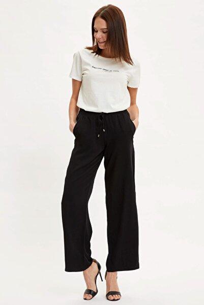 Kadın Siyah Relax Fit Pantolon J8738AZ.20SM.BK27