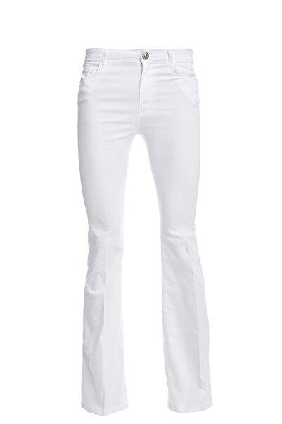 DeFacto Kadın Beyaz Flare Fit Basic Dokuma Pantolon N6269AZ.20SP.WT34