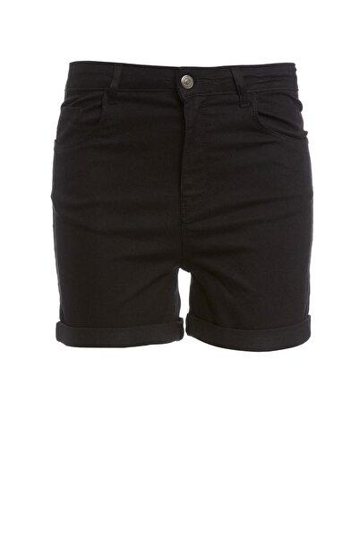 Kadın Siyah Cep Detaylı Şort M7425AZ.20SM.BK27