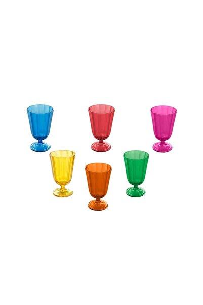 Porland Morocco 6 Renk Ayaklı Su Bardağı