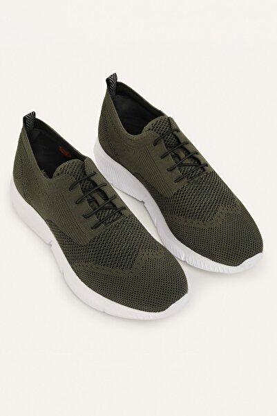 Mudo Erkek Haki Bağcıklı Çorap Sneaker 380657