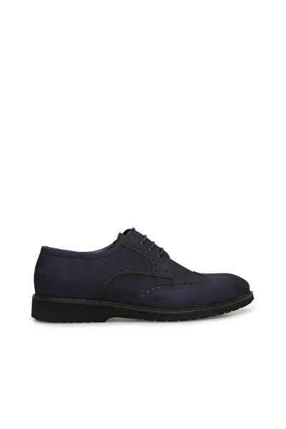 Dıvarese Zımbalı Lacivert Nubuk Ayakkabı