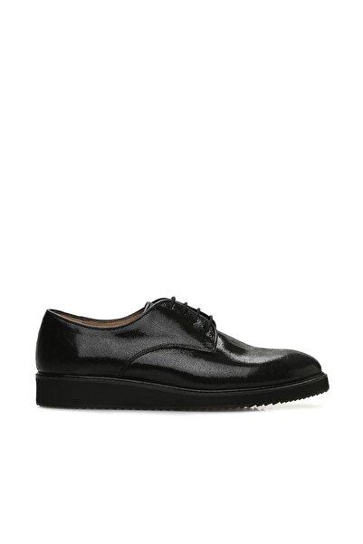 Dıvarese Hakiki Deri Siyah Ayakkabı