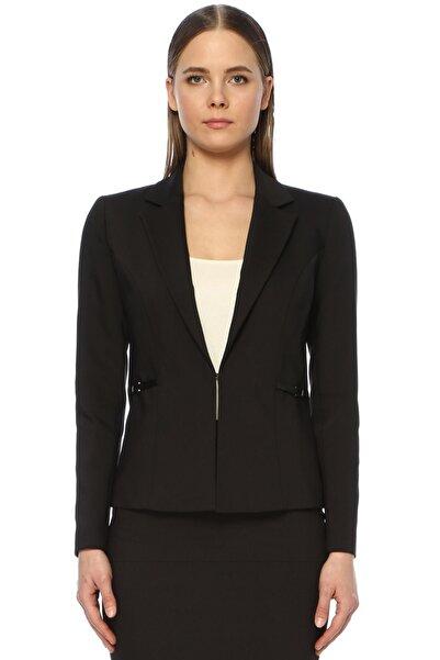 Network Kadın Slim Fit Siyah Ceket 1073408