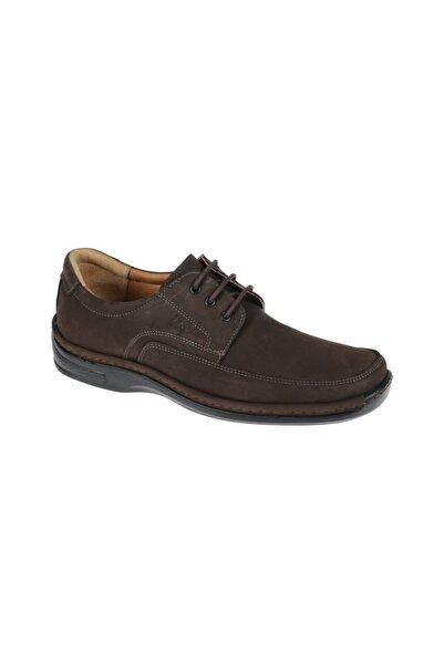 Friendly Hakiki Deri Kahve Erkek Comfort Ayakkabı