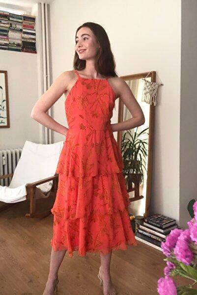 Çok Renkli Askı Detaylı Volanlı Elbise TWOSS20EL2574