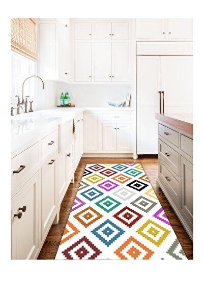 HalıExpress Renkli Modern Yıkanabilir Mutfak Halısı M0105
