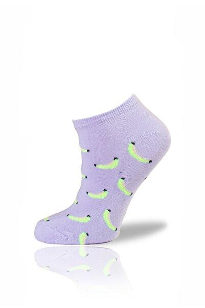 Socksafon Muz Patik Çorap -lila