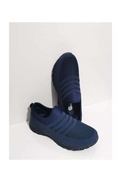 Jack Lion Aqua Lastikli Günlük Yürüyüş Erkek Spor Ayakkabı Sneaker Fileli Lacivert 302