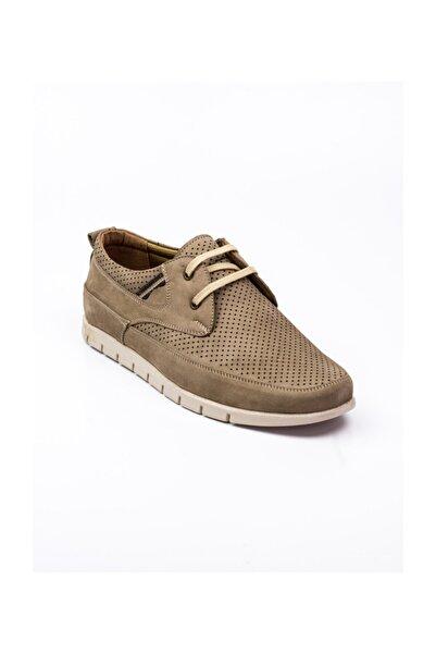 Modesa Bağcıklı Nubuk Deri Vizon Günlük Erkek Ayakkabı