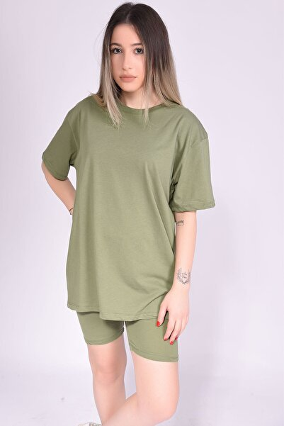Samtoni Yeşil Tayt Tshirt Takım