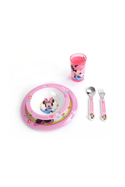 Disney Mickey Mouse Çocuk Yemek Takımı Tabak Kase Bardak Çatal Kaşık Disney Minnie