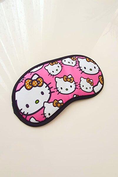 Hello Kitty Hello Kity Kedisi Çizgi Karakterli Uyku Göz Bandı Pembe