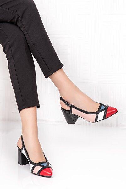 Kadın Hakiki Deri Renkli Topuklu Ayakkabı