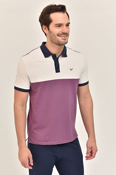 bilcee Mor Erkek Polo Yaka T-Shirt GS-8980