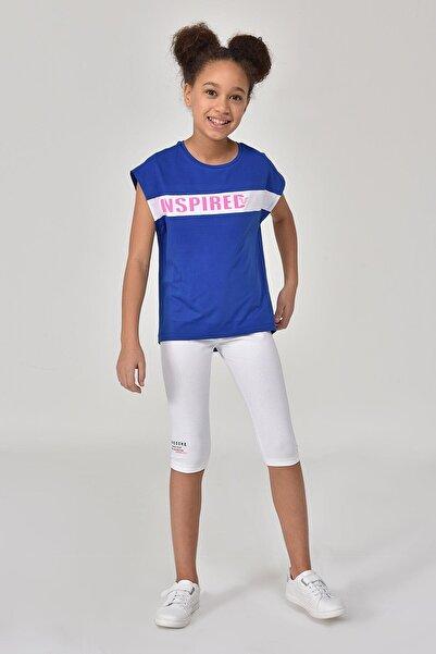 bilcee Mavi  Kız Çocuk T-Shirt GS-8157