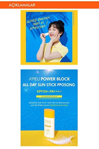 Koruyucu ve Pürüzsüzleştirici Güneş Kremi - A'PIEU Power Block All Day Sun SPF50+ 15g 8809530038529