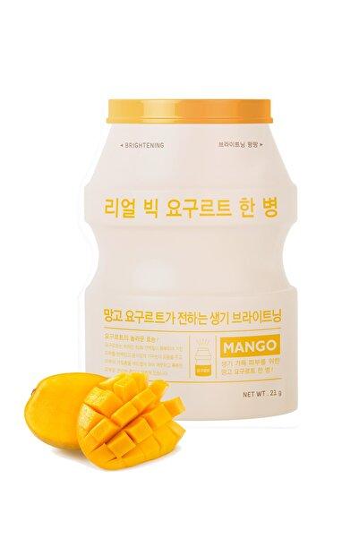 Gerçek Yoğurt ve Mango İçeren Yaprak Maske -  A'PIEU Real Big Yogurt One-Bottle 8809530054291