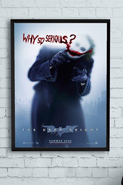 Postermanya The Dark Knight-kara Şövalye Joker Film Afişi Çerçeveli Tablo 2 (50x70cm)