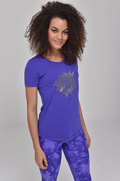 Mavi Büyük Beden Kadın T-Shirt GS-8131