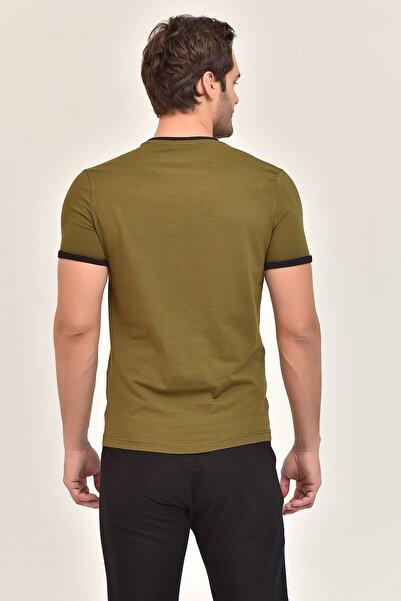 Yeşil Pamuklu Erkek T-Shirt ES-2374