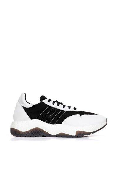BUENO Erkek  Shoes Hakiki Deri Yanları Nokta Detaylı Bağcıklı Spor Ayakkabı 20mq5200