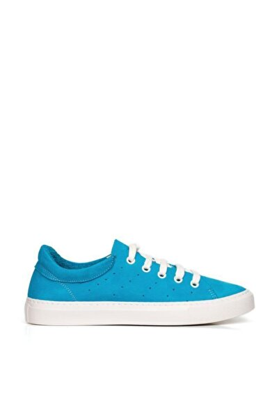 BUENO Kadın Shoes Hakiki Deri Yanları Nokta Detaylı Bağcıklı  Spor Ayakkabı 20wq4700
